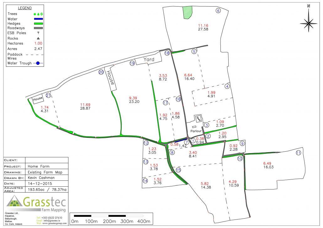 Existing Farm Map