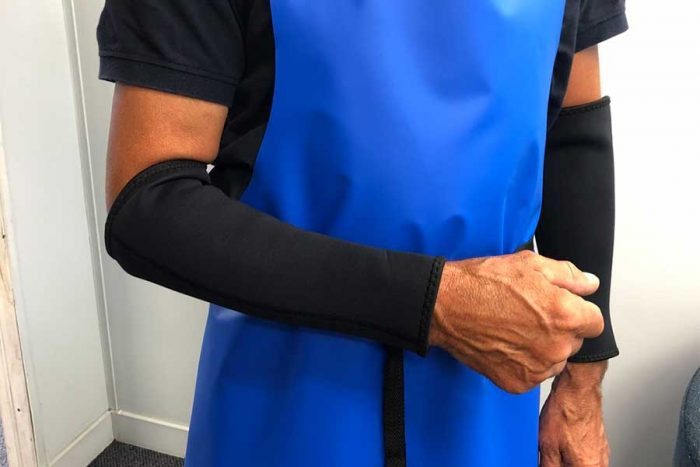 Neoprene Cuffs Milking Sleeves keep your forearms warm, dry and protected.