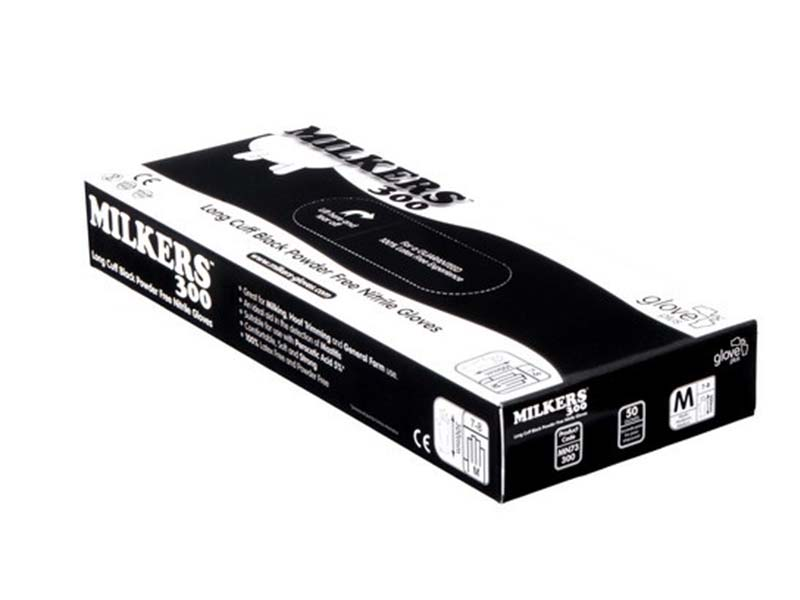 Milkers 300 Long Cuff Black Powder Free